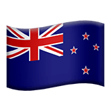 Flag: New Zealand Emoji on Apple macOS and iOS iPhones