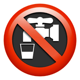 Non-Potable Water Emoji on Apple macOS and iOS iPhones