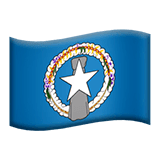 Flag: Northern Mariana Islands Emoji on Apple macOS and iOS iPhones