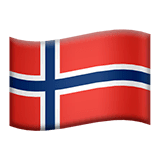 Flag: Norway Emoji on Apple macOS and iOS iPhones