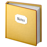 Cuaderno con tapa decorativa en Apple macOS y iOS iPhones