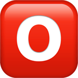O Button (Blood Type) Emoji on Apple macOS and iOS iPhones