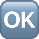 OK Button Emoji on Apple macOS and iOS iPhones