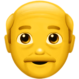 Old Man Emoji on Apple macOS and iOS iPhones