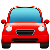 Oncoming Automobile Emoji on Apple macOS and iOS iPhones