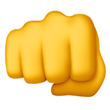 Oncoming Fist Emoji on Apple macOS and iOS iPhones