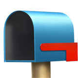 Open Mailbox With Lowered Flag Emoji on Apple macOS and iOS iPhones