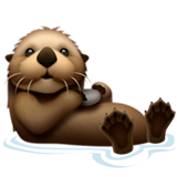 Otter Emoji on Apple macOS and iOS iPhones