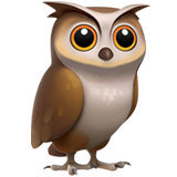 Owl Emoji on Apple macOS and iOS iPhones
