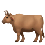 Ox Emoji on Apple macOS and iOS iPhones
