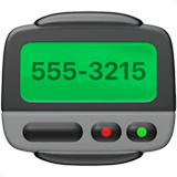 Pager Emoji on Apple macOS and iOS iPhones