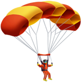Parachute Emoji on Apple macOS and iOS iPhones