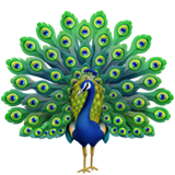 Peacock Emoji on Apple macOS and iOS iPhones