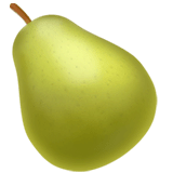 Pear Emoji on Apple macOS and iOS iPhones