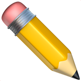 Pencil Emoji on Apple macOS and iOS iPhones