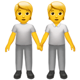 People Holding Hands Emoji on Apple macOS and iOS iPhones
