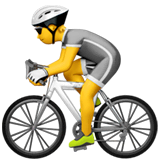 Person Biking Emoji on Apple macOS and iOS iPhones
