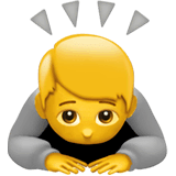 Person Bowing Emoji on Apple macOS and iOS iPhones