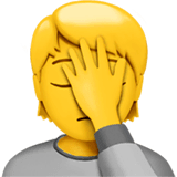 Person Facepalming Emoji on Apple macOS and iOS iPhones