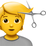Person Getting Haircut Emoji on Apple macOS and iOS iPhones