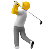 Person Golfing Emoji on Apple macOS and iOS iPhones