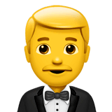 Person In Tuxedo Emoji on Apple macOS and iOS iPhones