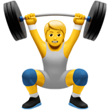 Person Lifting Weights Emoji on Apple macOS and iOS iPhones