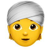 Persona con turbante su Apple macOS e iOS iPhones