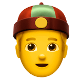 Person With Skullcap Emoji on Apple macOS and iOS iPhones