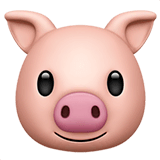 Pig Face Emoji on Apple macOS and iOS iPhones