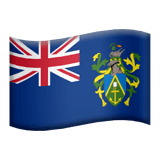 Flag: Pitcairn Islands Emoji on Apple macOS and iOS iPhones