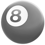 Boule de billard sur Apple macOS et iOS iPhones