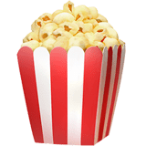 Popcorn Emoji on Apple macOS and iOS iPhones