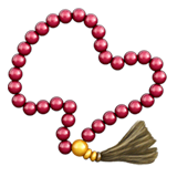 Prayer Beads Emoji on Apple macOS and iOS iPhones