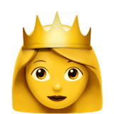 Princess Emoji on Apple macOS and iOS iPhones
