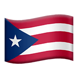 Flag: Puerto Rico Emoji on Apple macOS and iOS iPhones