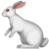 Rabbit Emoji on Apple macOS and iOS iPhones