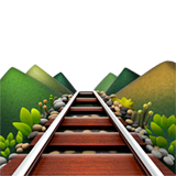 Railway Track Emoji on Apple macOS and iOS iPhones