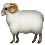 Ram Emoji on Apple macOS and iOS iPhones