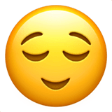 Relieved Face Emoji on Apple macOS and iOS iPhones