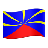 Flag: Réunion Emoji on Apple macOS and iOS iPhones