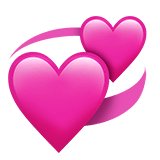 Revolving Hearts Emoji on Apple macOS and iOS iPhones