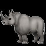 Rhinoceros Emoji on Apple macOS and iOS iPhones