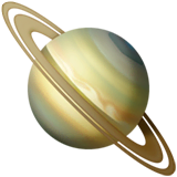 Ringed Planet Emoji on Apple macOS and iOS iPhones
