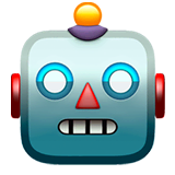 Robot Emoji on Apple macOS and iOS iPhones