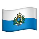 Flag: San Marino Emoji on Apple macOS and iOS iPhones