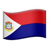 Flag: Sint Maarten Emoji on Apple macOS and iOS iPhones