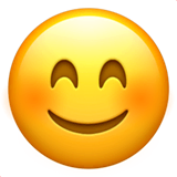 Smiling Face With Smiling Eyes Emoji on Apple macOS and iOS iPhones