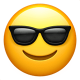 Smiling Face With Sunglasses Emoji on Apple macOS and iOS iPhones