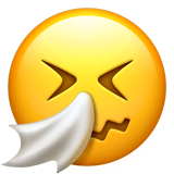 Sneezing Face Emoji on Apple macOS and iOS iPhones